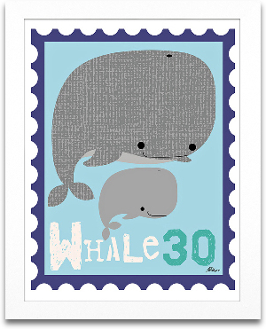 Whale Animal Stamp 8x10 preview