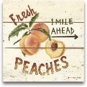 Fresh Peaches-6x6