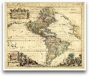 Antique Map Of Ameri...<span>Antique Map Of America II</span>