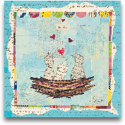 Blue Love Birds Squa...<span>Blue Love Birds Square - 12x12</span>