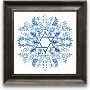 12x12 Indigo Hanukka...<span>12x12 Indigo Hanukkah I Framed Art</span>