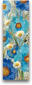 Sunkissed Blue And W...<span>Sunkissed Blue And White Flowers I - 12x36</span>