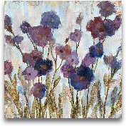 Abstracted Florals I...<span>Abstracted Florals In Purple - 35x35</span>