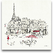 World Cafe  II - Par...<span>World Cafe  II - Paris Red - 12x12</span>