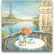 Morning On The Seine...<span>Morning On The Seine Crop - 18x18</span>