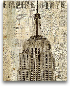 Vintage NY Empire St...<span>Vintage NY Empire State Building - 16X20</span>