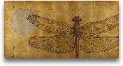 Dragonfly On Gold