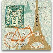 Postcard From Paris ...<span>Postcard From Paris Collage - 12x12</span>