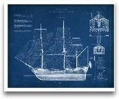 Antique Ship Bluepri...<span>Antique Ship Blueprint IV</span>