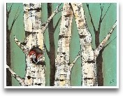Birch Grove On Teal I