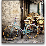 Cafe Bicycle - 16x16 FB