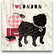 London Pooch - 12x12