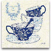 Blue Cups IV - 12x12