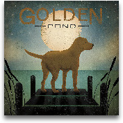 Moonrise Yellow Dog ...<span>Moonrise Yellow Dog - Golden Pond - 18x18</span>