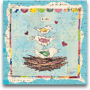 Family Of Love Birds...<span>Family Of Love Birds Square - 12x12</span>