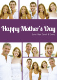 Dark Purple Happy Mother's Day Collage