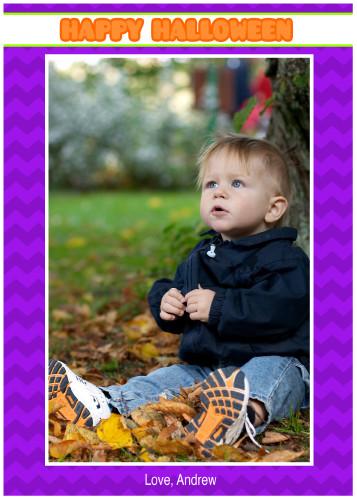 Halloween Chevron - Purple