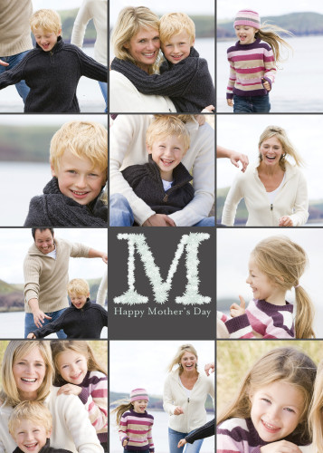 Floral Letter M for Mom Collage
