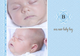 5x7 Card: Our New Baby Boy