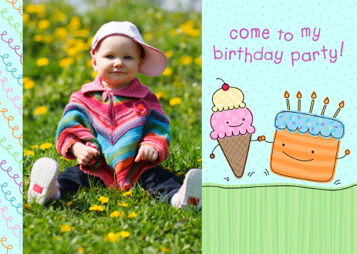 5x7 Card: Come To My Birthday
