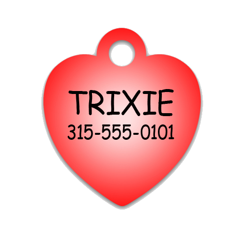 Heart Shaped Pet Tag