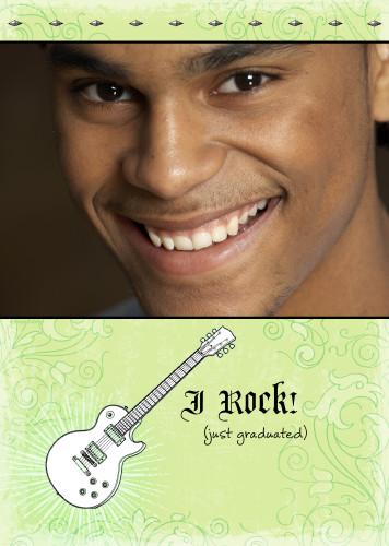 5x7 Card: I Rock!  Just Graduated