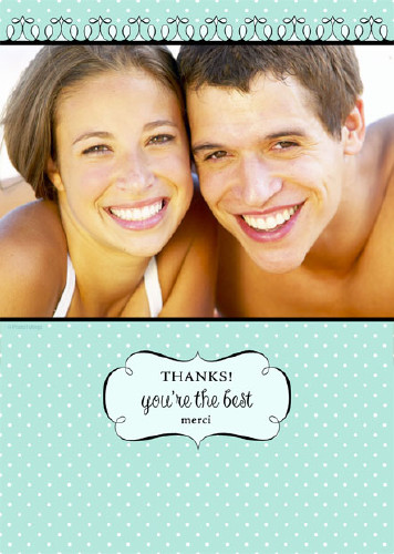 "5x7 Card: ""Thanks!"""