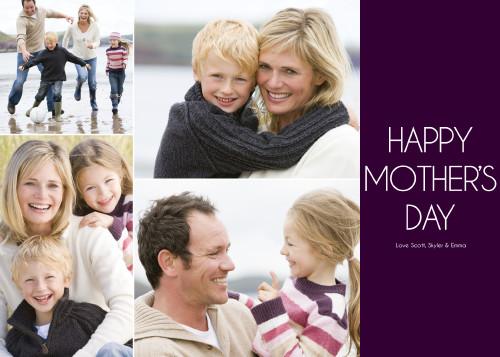 Dark Rich Purple Happy Mother