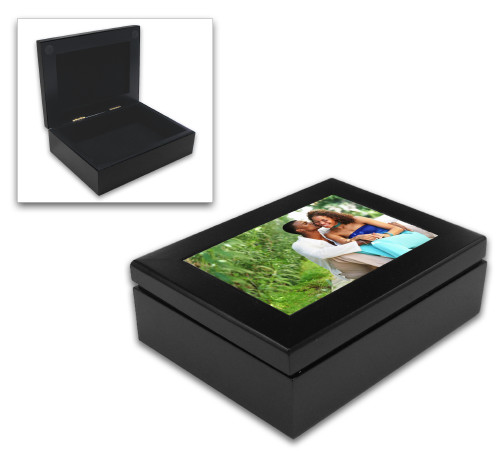 Keepsake Box with Hardboard Insert - Espresso