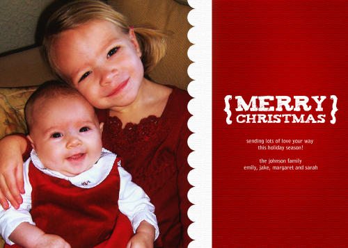 5x7 Card: Merry Christmas