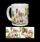 Ceramic Mug/White With Two Photo Collage