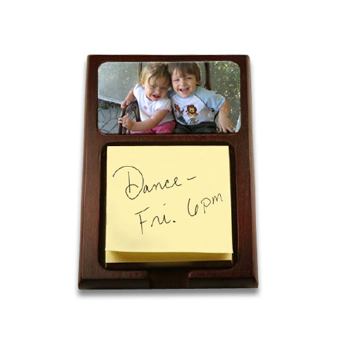 Wooden Note Holder with Aluminum Insert