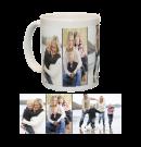 Ceramic Mug/White With Three Photo Collage