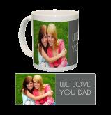 Ceramic Mug/White One Photo Collage
