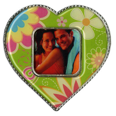Green Heart Epoxy Magnet