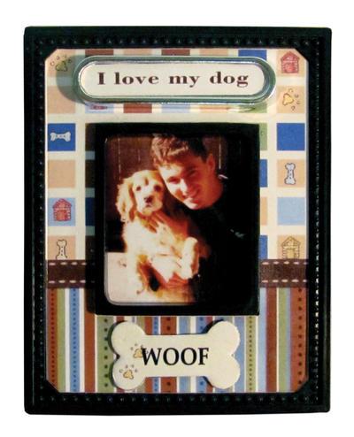 Woof Scrapbook Magnet
