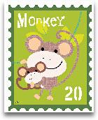 Animal Stamps - Monk...<span>Animal Stamps - Monkey 8x10</span>