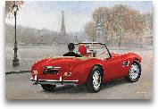 A Ride In Paris III ...<span>A Ride In Paris III Red Car - 36x24</span>