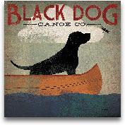 Black Dog Canoe - 35x35