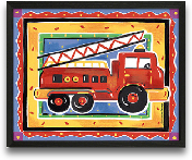 Fire Engine 10x8