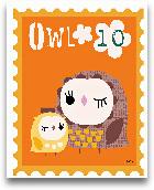 Animal Stamps - Owl