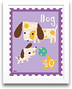 Dog Animal Stamp 8x10