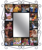 Wrought Iron Mural Frame With Mirror