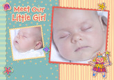 5x7 Card: Meet Our Little Girl