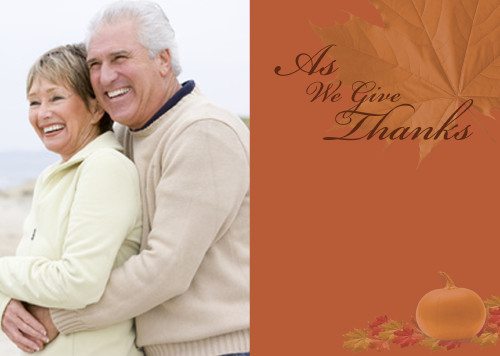 5x7 Card: As We Give Thanks
