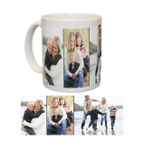 Ceramic Mug/White With Three Photo Collage