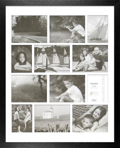 Americana Collage - Black 16x20