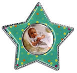 Epoxy Magnet - Green Polka Dot Star